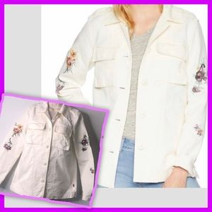 Levi's Floral Embroidered Cotton Shirt Jacket S